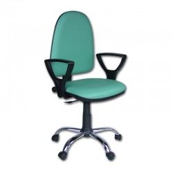 Krzesło biurowe Pionier Skaj Chrom