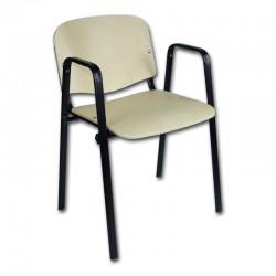 Krzesło iso black  sklejka z podłokietnikiem