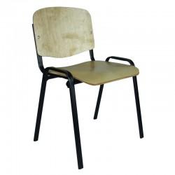 Krzesło Iso Black Sklejka 9 mm