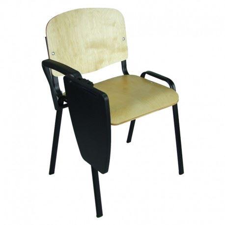 Krzesło Iso Black Sklejka z pulpitem