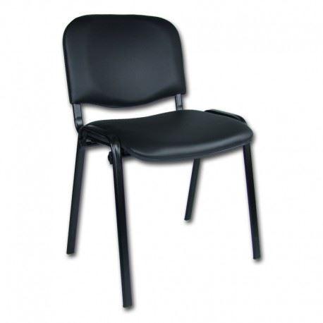 Krzesło konferencyjne iso black ekoskóra