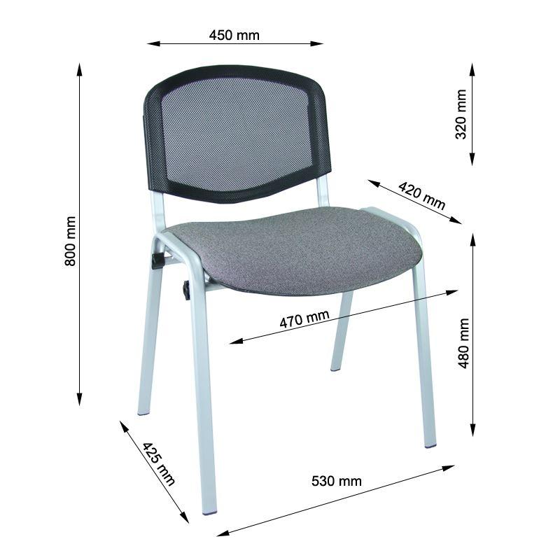 Krzesło iso siatka alu