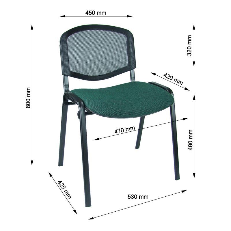 Krzesło iso siatka black