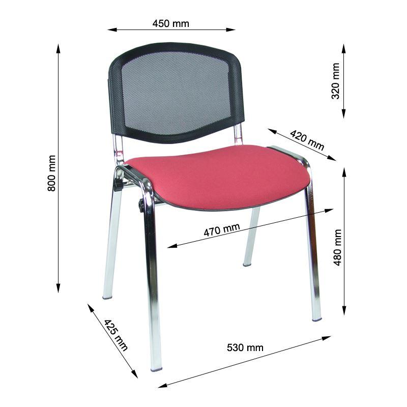 krzesło iso chrom siatka
