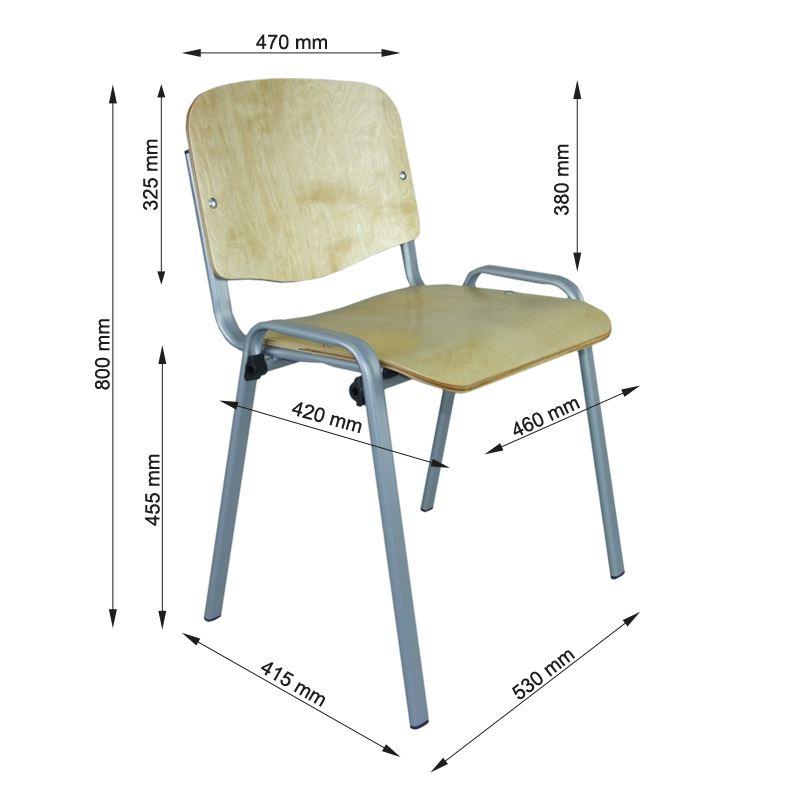 Klasyczne krzesło twarde