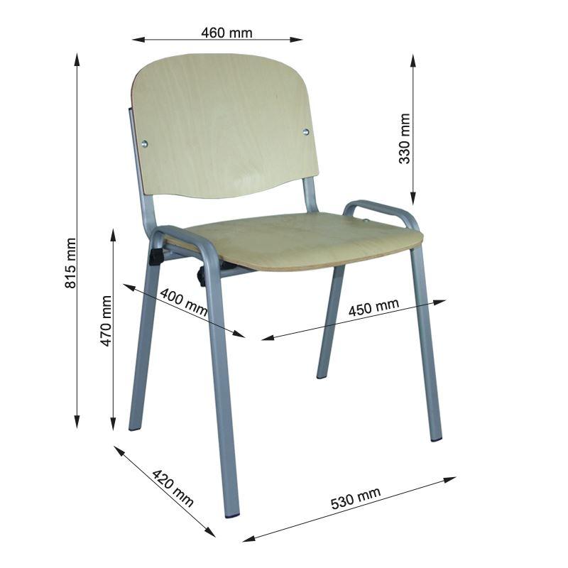 krzesło iso alu sklejka