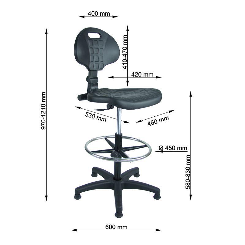 Obrotowe krzesło kasowe